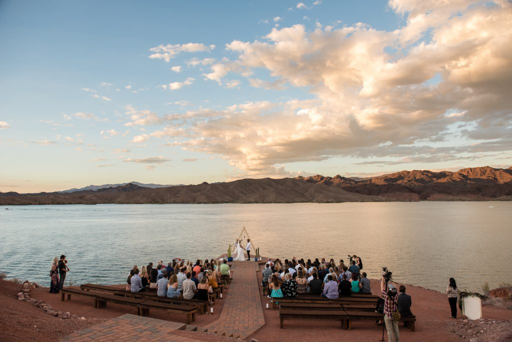 Wedding ceremony on the shores of Lake Havasu